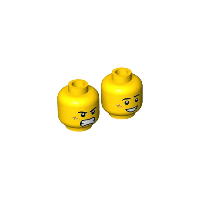 LEGO  6289265 TÊTE HOMME (2 FACES)