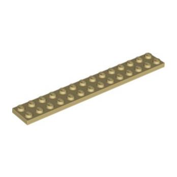 LEGO 6036487 PLATE 2X14 - TAN