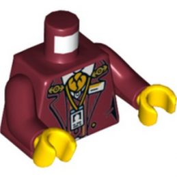 LEGO 6275256 TORSE FEMME - NEW DARK RED