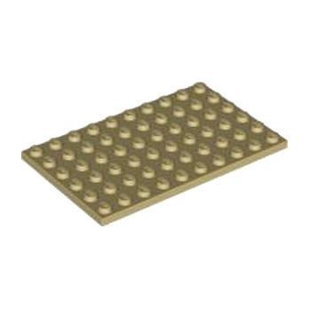 LEGO 4624185 PLATE 6X10 - TAN