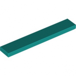 LEGO 6262030 PLATE LISSEE 1X6 - BRIGHT BLUEGREEN