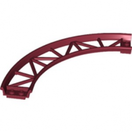 LEGO 6294360 RAIL COURBE 13X13, 1/4 CIRCLE, W/ 3.2 SHAFT  - NEW DARK RED
