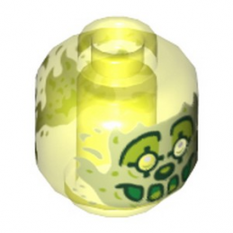 LEGO 6289322 TÊTE FANTOME CLOWN - JAUNE FLUO TRANSPARENT
