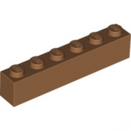 LEGO 6099341 BRIQUE 1X6 - MEDIUM NOUGAT