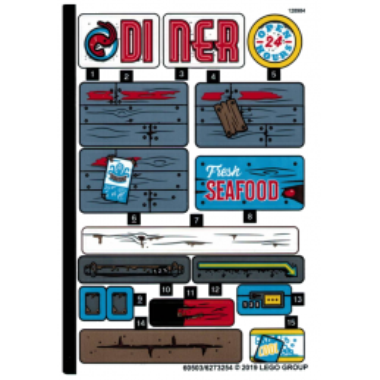 Stickers / Autocollant Lego Hidden Side - 70422