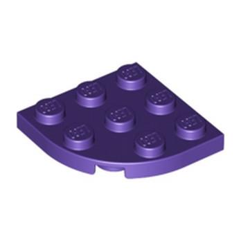 LEGO 6172776 PLATE 3X3, 1/4 CIRCLE - MEDIUM LILAC