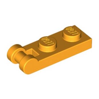 LEGO 6097507 PLATE 1X2 W/SHAFT Ø3.2 - FLAME YELLOWISH ORANGE