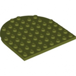 LEGO 6275667 1/2 ROND 8X8 - OLIVE GREEN