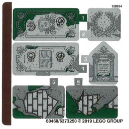 Stickers / Autocollant Lego Hidden Side - 70420 stickers-autocollant-lego-hidden-side-70420 ici :