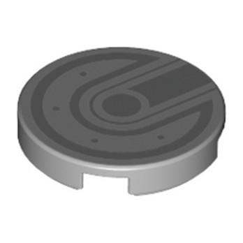 LEGO 6237231 IMPRIME 2X2 - MEDIUM STONE GREY