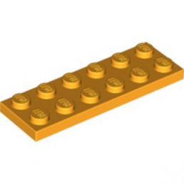 LEGO 6097509  PLATE 2X6 -  FLAME YELLOWISH ORANGE lego-6097509-plate-2x6-flame-yellowish-orange ici :