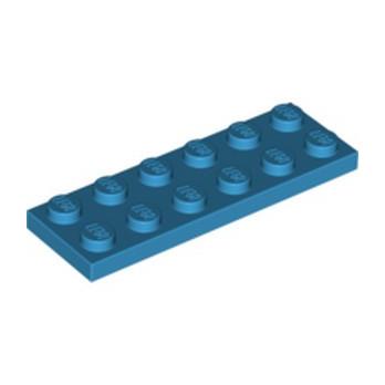 LEGO 4640891 PLATE 2X6 -  DARK AZUR