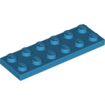LEGO 4640891 PLATE 2X6 -  DARK AZUR lego-4640891-plate-2x6-dark-azur ici :