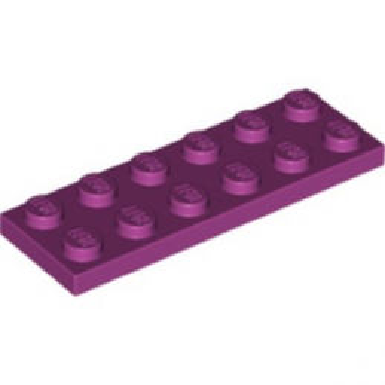 LEGO 6186656 PLATE 2X6 - MAGENTA