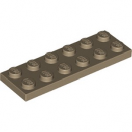 LEGO 4550329  PLATE 2X6 - SAND YELLOW