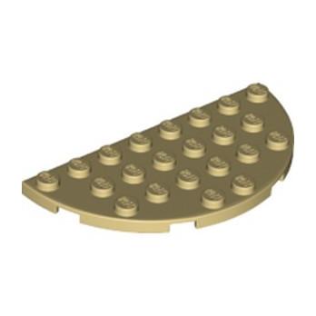 LEGO 6123812 1/2 ROND 4X8 - BEIGE