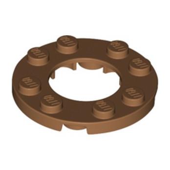 LEGO 6018928 PLATE ROND 4X4 + TROU Ø16MM - MEDIUM NOUGAT