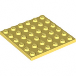LEGO 6251833 PLATE 6X6 - COOL YELLOW
