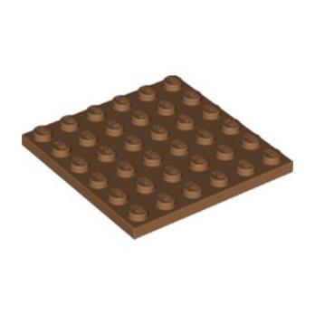 LEGO 6162899 PLATE 6X6 - MEDIUM NOUGAT