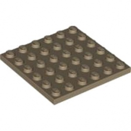 LEGO 4530712  PLATE 6X6 - SAND YELLOW