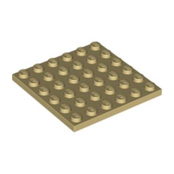 LEGO 4125217 PLATE 6X6 - TAN