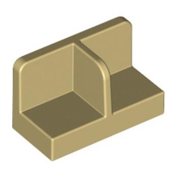 LEGO 6153157 FOOT, PLATE - BEIGE lego-6153157-mur-cloison-beige ici :
