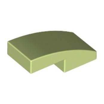 LEGO 6109405 - PLATE W. BOW 1X2X2/3 - SPRING YELLOWISH GREEN