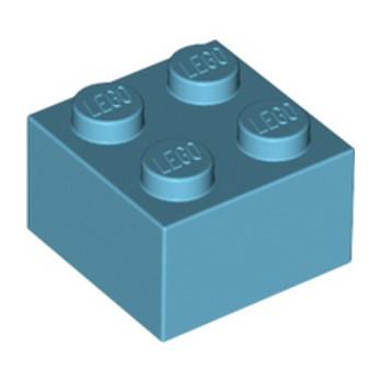 LEGO 4653970 BRIQUE 2X2 - MEDIUM AZUR