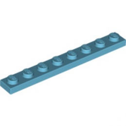 LEGO 6074793 PLATE 1X8 - MEDIUM AZUR