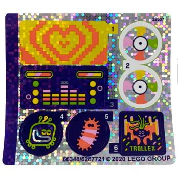 Stickers / Autocollant Lego Trolls 41250