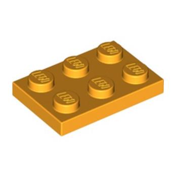 LEGO 4645048 PLATE 2X3 - FLAME YELLOWISH ORANGE