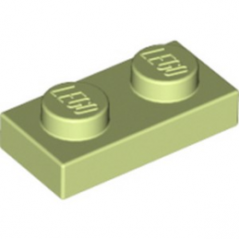 LEGO 6099368 PLATE 1X2 - SPRING YELLOWISH GREEN