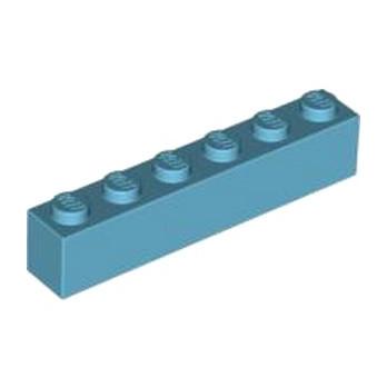 LEGO 4619653 BRIQUE 1X6 - MEDIUM AZUR