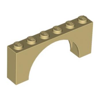 LEGO 6106187 BRICK W. INSIDE BOW 1X6X2 - BEIGE lego-6106187-arche-1x6x2-beige ici :