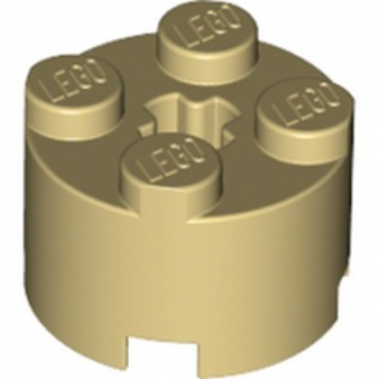 LEGO 614305 BRIQUE RONDE Ø16 W. CROSS - BEIGE lego-4125220-brique-ronde-o16-w-cross-beige ici :