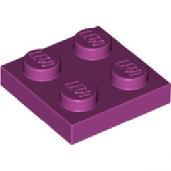 LEGO 4183992 PLATE 2X2 - MAGENTA