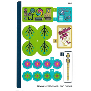 Stickers / Autocollant Lego Trolls 41252 stickers-autocollant-lego-trolls-41252 ici :