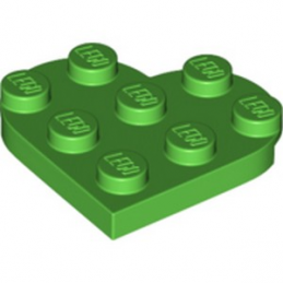 LEGO 6294357 COEUR 3X3 - BRIGHT GREEN
