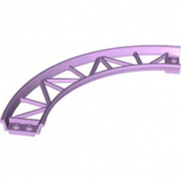 LEGO 6290515 RAIL COURBE 13X13, 1/4 CIRCLE, W/ 3.2 SHAFT  - LAVENDER