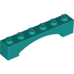 LEGO 6290541 BRIQUE 1X6 W/INSIDE BOW - BRIGHT BLUEGREEN lego-6290541-brique-1x6-winside-bow-bright-bluegreen ici :