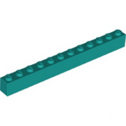 LEGO 6289134 BRIQUE 1X12 - BRIGHT BLUEGREEN
