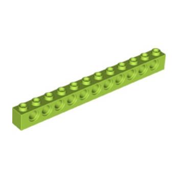 LEGO 6132377 TECHNIC BRIQUE 1X12, Ø4,9 - BRIGHT YELLOWISH GREEN