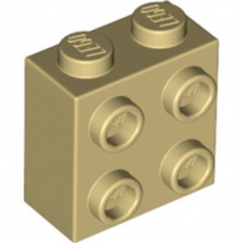 LEGO 6214334 BRIQUE 1X2X1 2/3 W/4 KNOBS - BEIGE lego-6214334-brique-1x2x1-23-w4-knobs-beige ici :