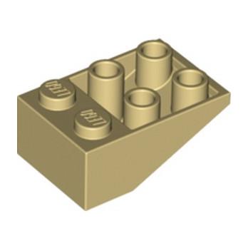 LEGO 374705 TUILE 2X3/25° INV. - BEIGE