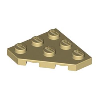 LEGO 245005 PLATE 45 DEG. 3X3 - BEIGE lego-4208072-plate-45-deg-3x3-beige ici :