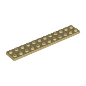 LEGO 6093864 PLATE 2X12 - BEIGE lego-6093864-plate-2x12-beige ici :
