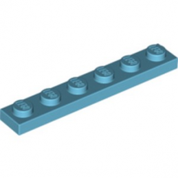 LEGO 4625036  PLATE 1X6 - MEDIUM AZUR