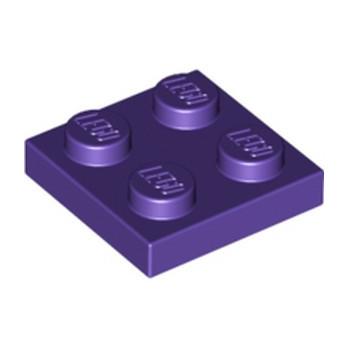 LEGO 4224861 PLATE 2X2 - MEDIUM LILAC