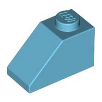LEGO 4619655 TUILE 1X2/45° - MEDIUM AZUR
