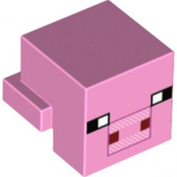 LEGO 6162247 TETE COCHON MINECRAFT - ROSE CLAIR lego-6162247-tete-cochon-minecraft-rose-clair ici :